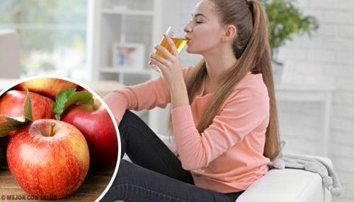 8 benefícios do suco de maçã
