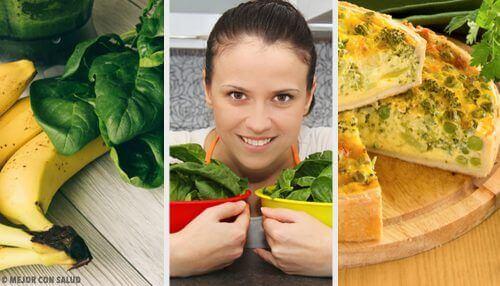 5 receitas com espinafres para incluir na dieta