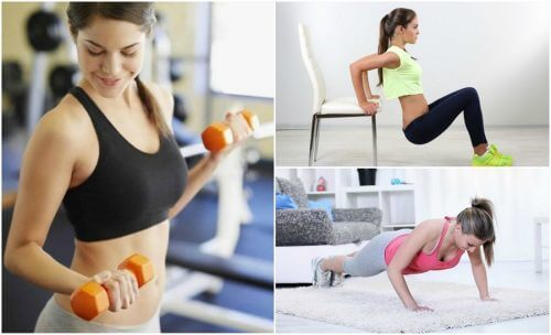 Reduza a flacidez de seus braços praticando 6 exercícios simples