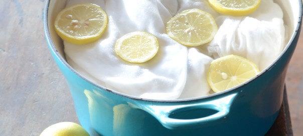Limão para branquear roupas