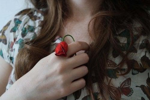 Flor mucha que indica falta de energia