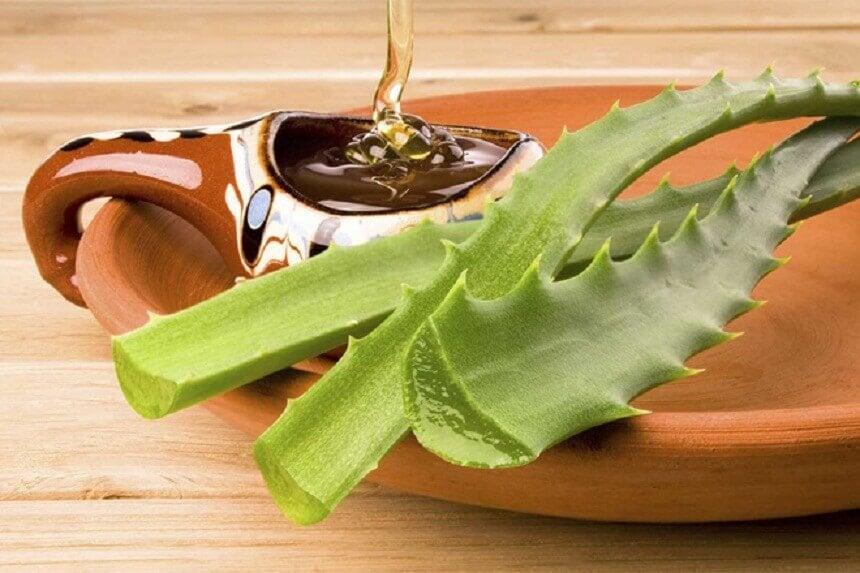 Remédio natural de aloe vera e mel