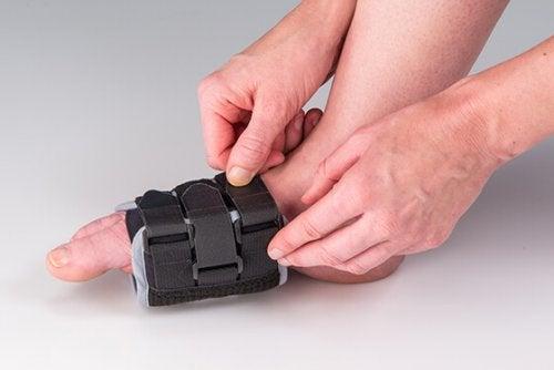 Bandagens de compressão para tratar a s~indrome das pernas inquietas