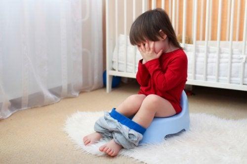 Criança com gastroenterite