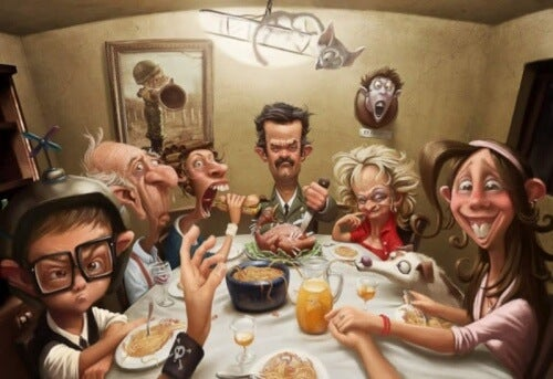 Desenho de familia tóxica