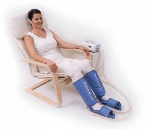 Compressão pneumática para síndrome das pernas inquietas