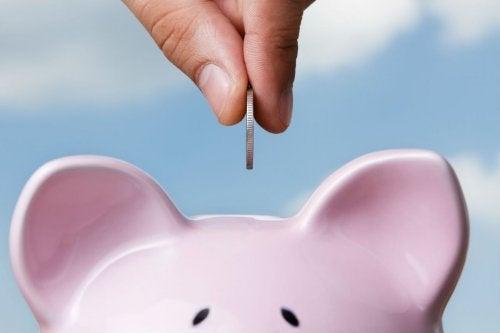 Cofrinho para economizar dinheiro