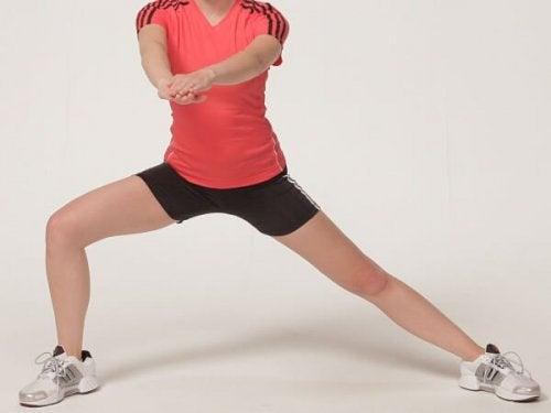Passadas para tonificar as pernas