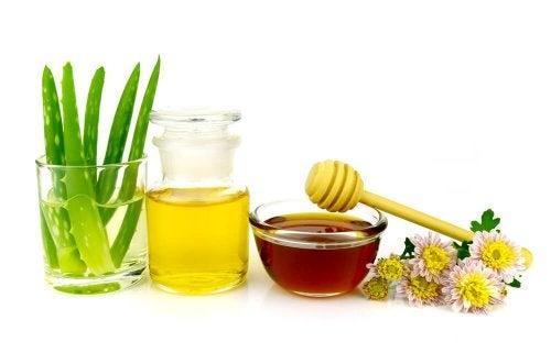Removedor de maquiagem com aloe e mel