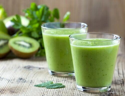 Suco verde para reduzir o estresse