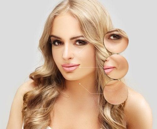 Mulher com pele lisa graças ao ácido hialurônic