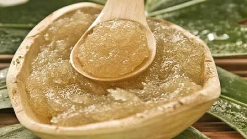 Tratamento de azeite de oliva e açúcar