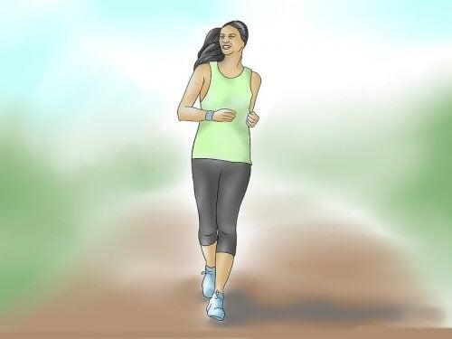 Caminhada diária para manter a forma física
