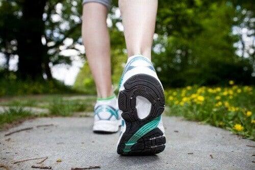 Faça exercícios para manter o peso