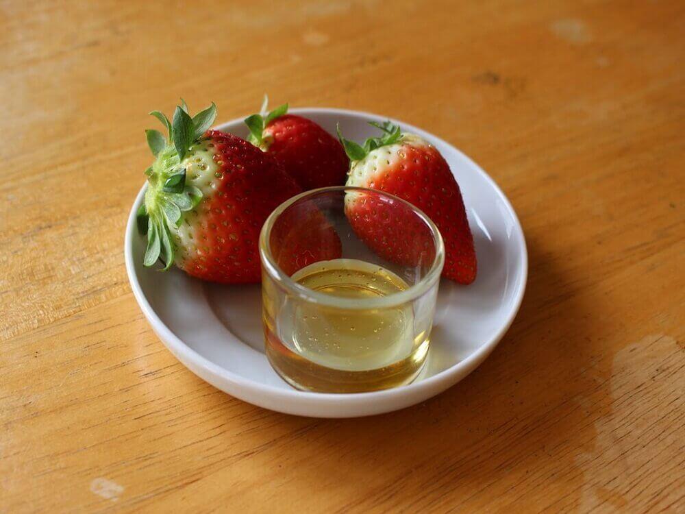 Morangos com azeite