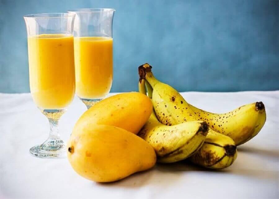 Suco de manga e banana