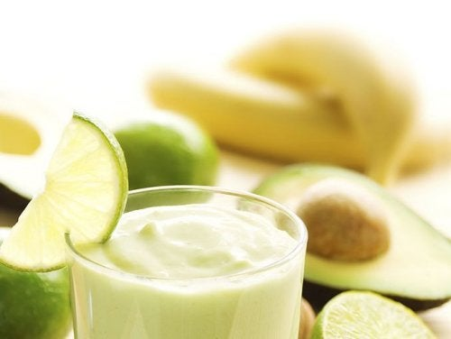 Vitamina de abacate e banana