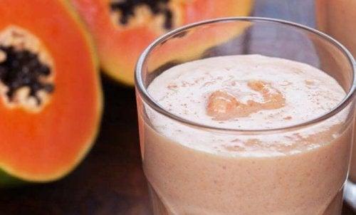 Vitamina de mamão para melhorar sua digestão