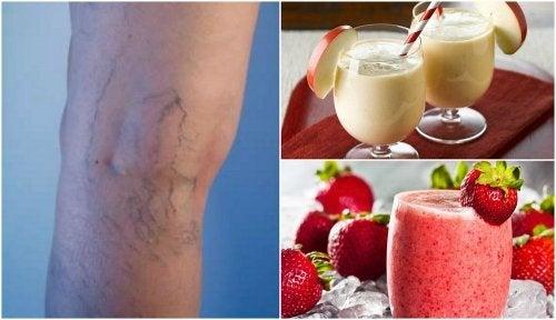 5 sucos caseiros para reduzir as varizes e problemas circulatórios