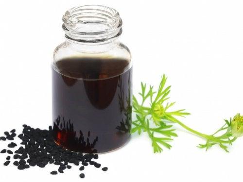 Óleo de sementes negras