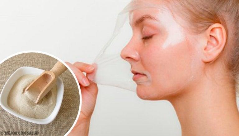 4 máscaras peel-off com gelatina para revitalizar a pele