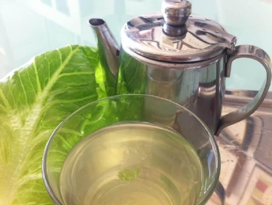 Chá de folhas de alface para acalmar o nervosismo