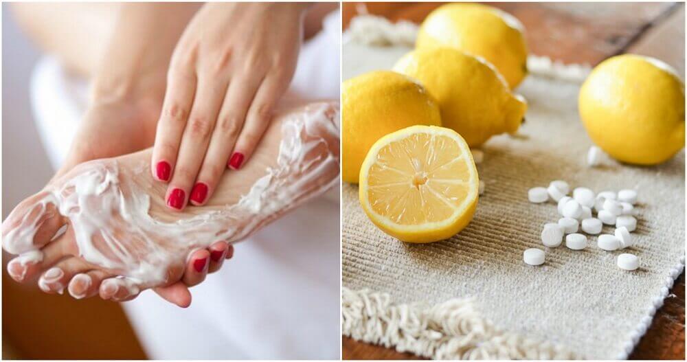 Combine aspirina com limão e diga adeus aos calos nos pés