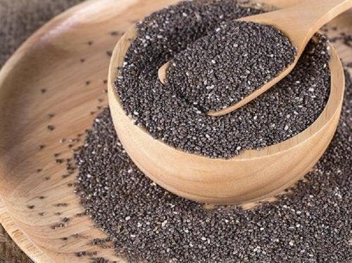 Sementes de chia são uma fonte de ômega 3