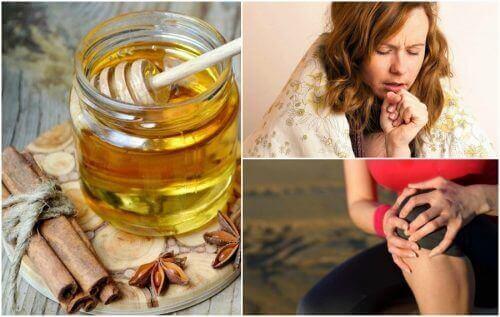 8 benefícios medicinais da mistura de canela e mel