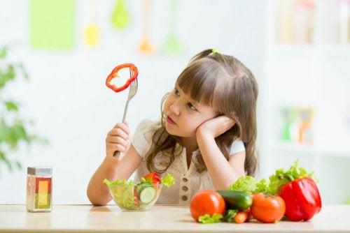 Crianças que recusam vegetais