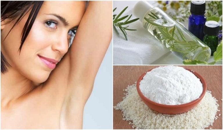 5 soluções naturais para eliminar o mau cheiro das axilas