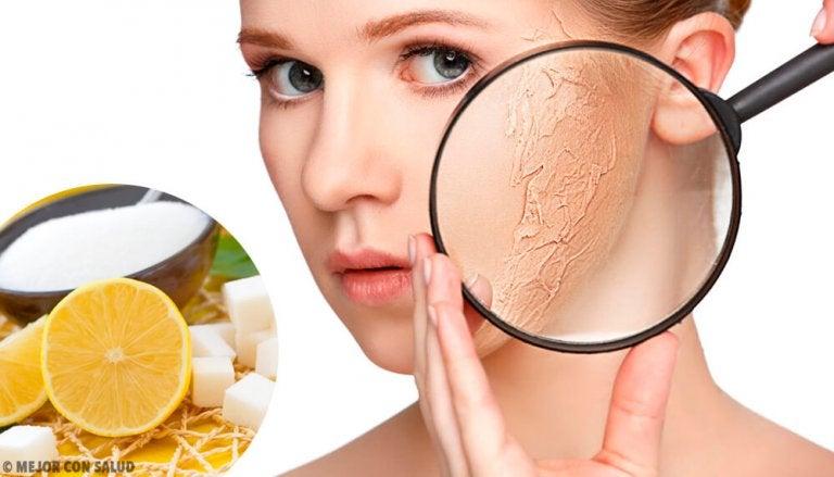 Esfoliantes corporais para a pele seca