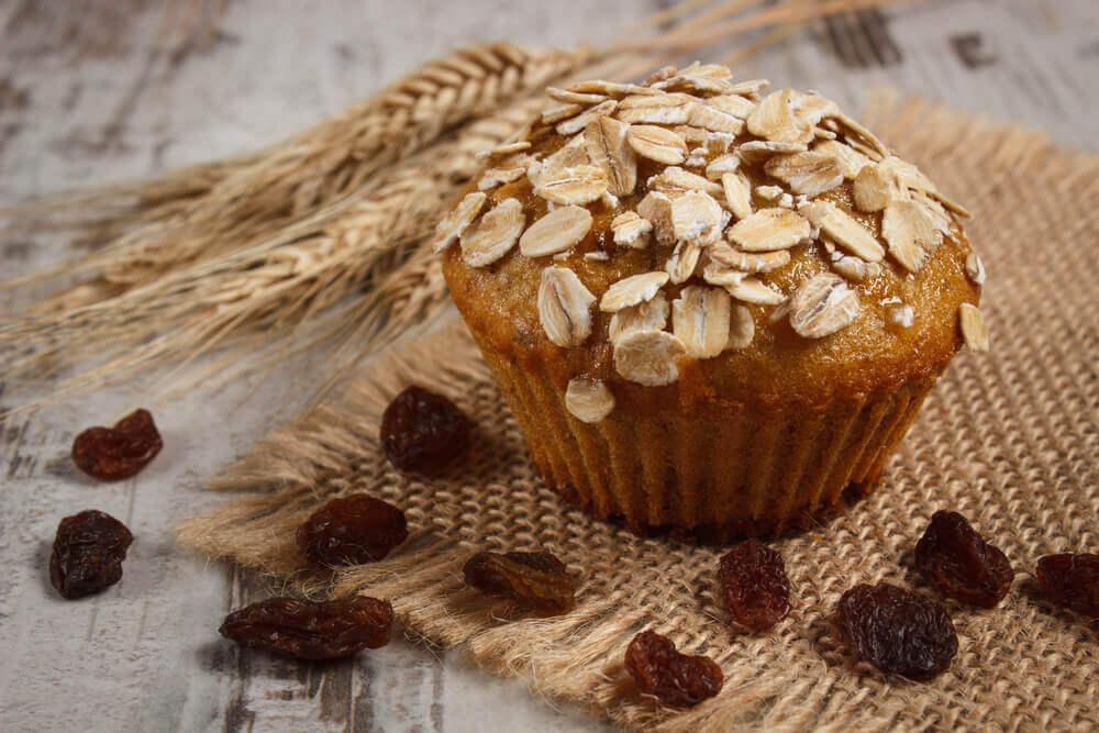Madalenas de aveia, nutritivas, sem glúten e sem lactose