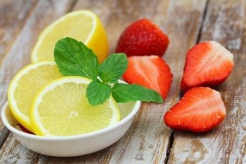 Morango e limão