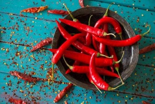 Pimenta vermelha é um alimento para diminuir o apetite
