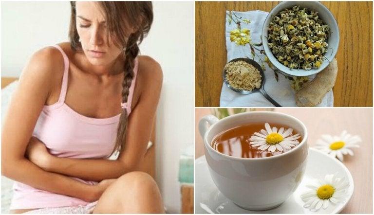 Chá de gengibre e camomila para tratar a síndrome do intestino irritável