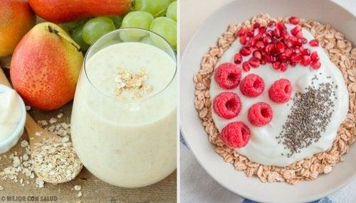 4 cafés da manhã com aveia para acelerar o metabolismo