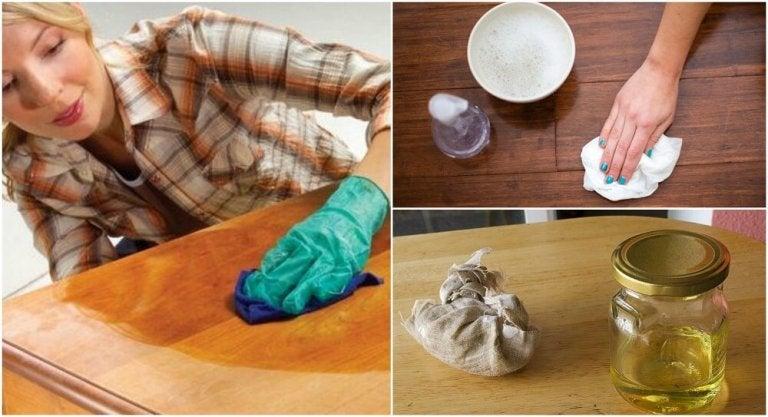 Como fazer 5 produtos naturais para limpar seus móveis de madeira