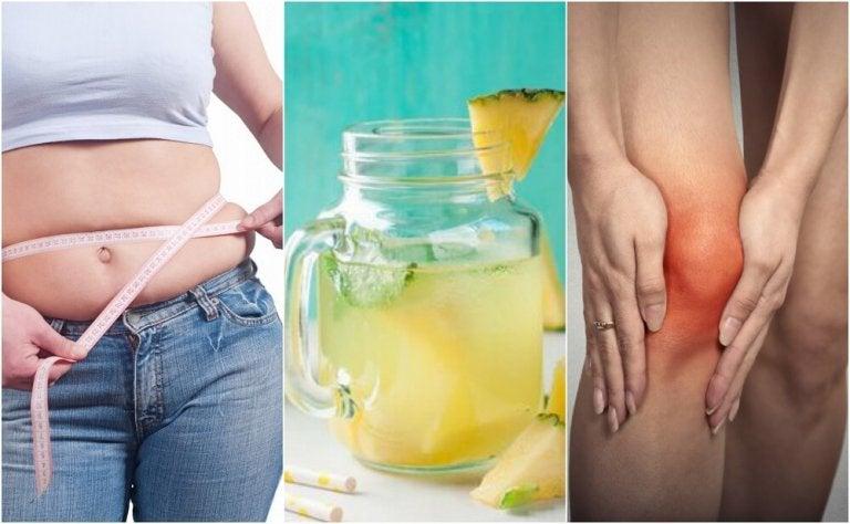 5 razões para beber água de abacaxi