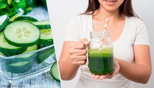 9 benefícios do suco de pepino