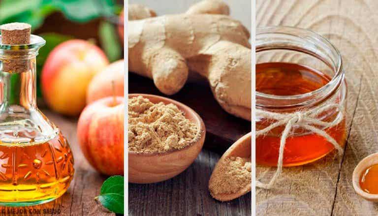 Tônico digestivo, adelgaçante e revitalizador de vinagre, gengibre e mel