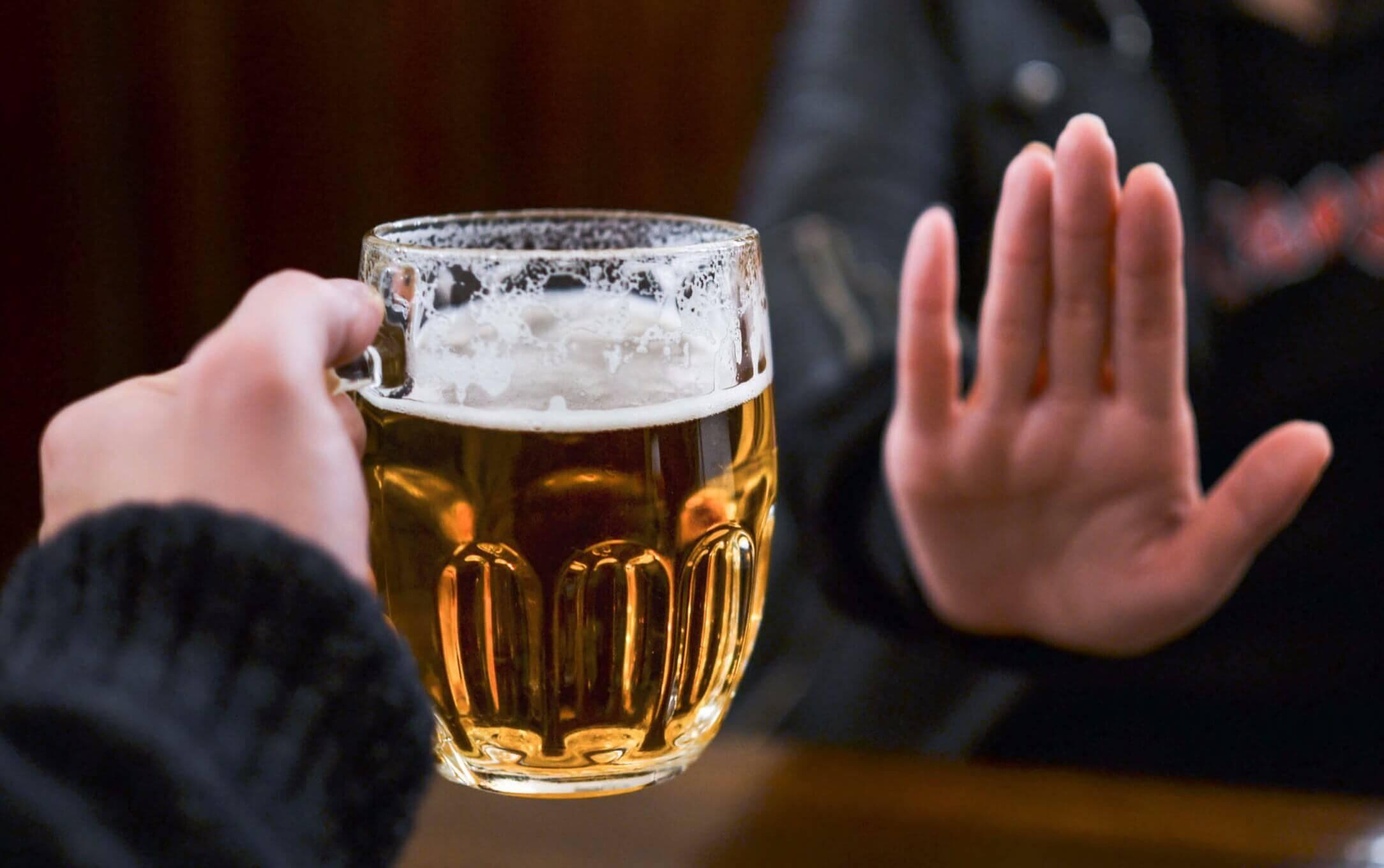 Não beber álcool