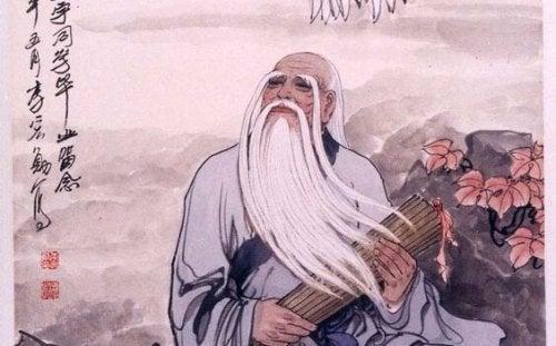 Homem que alcançou paz interior com o Tao