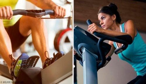 Máquinas de academia para queimar calorias