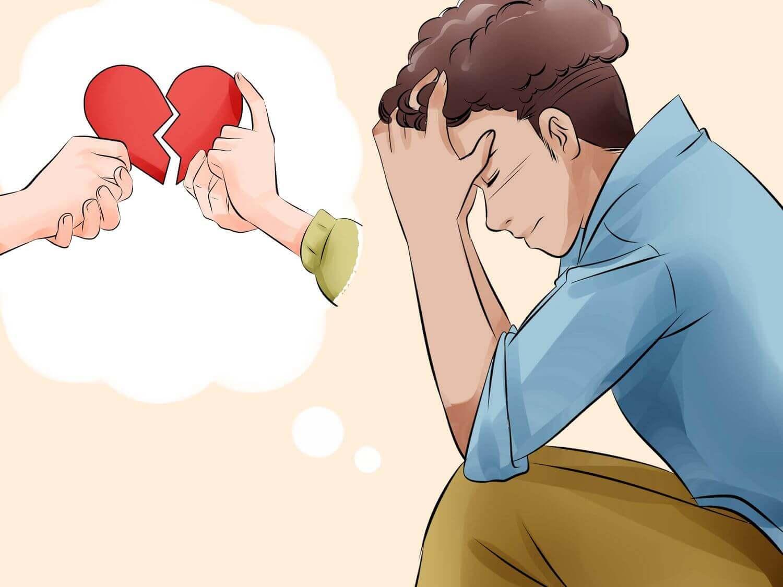Homem sofrendo porque terminou seu relacionamento