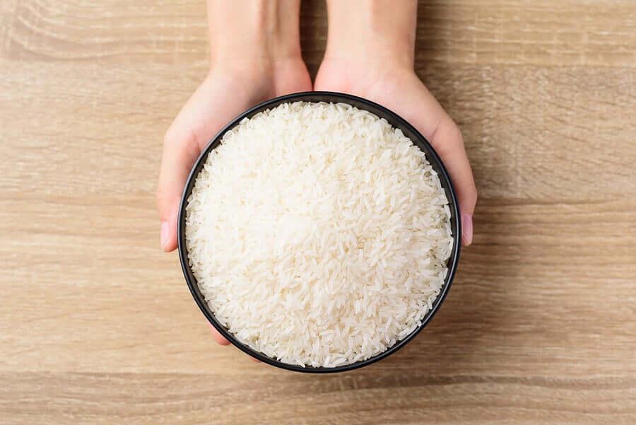 esfoliantes faciais de arroz