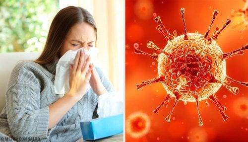 Vírus forte que causa resfriado