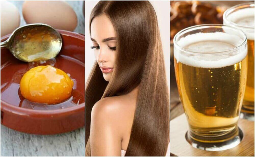 Tratamento de ovo e cerveja para um cabelo sedoso e saudável