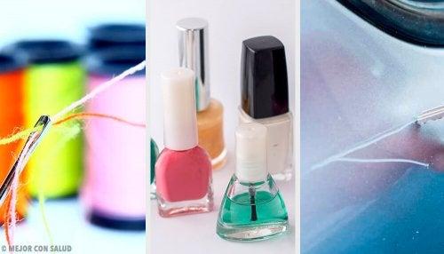 9 usos alternativos do esmalte de unha