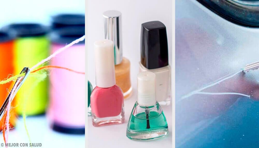 Vocês sabiam que os vidrinhos de esmalte não guardam apenas a fórmula das unhas mais bonitas?   Engana-se quem pensa que os esmaltes servem apenas para colorir as unhas. Na verdade, esses vidrinhos (quase) mágicos são grandes aliados na resolução de imprevistos domésticos.